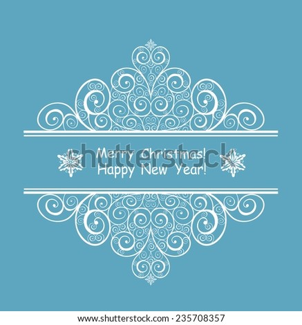 Greeting new years  header - stock vector