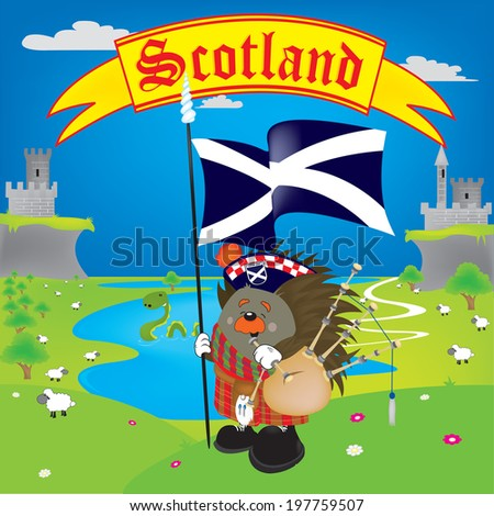 Greetings from Scotland - stock vector