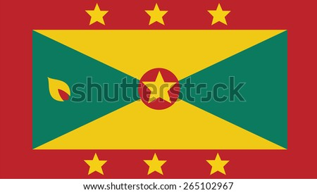 Grenada Flag for Independence Day and infographic Vector illustration. - stock vector