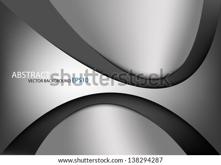 grey background vector overlap dimension 3d graphic metal color message board for text and message design frame line shadow for modern web design eps10 infographic - stock vector