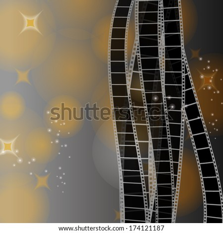 Grey background with film stripe - stock vector