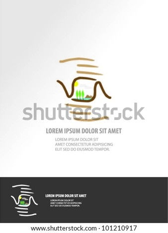 grey background with isolated hands. vector - stock vector
