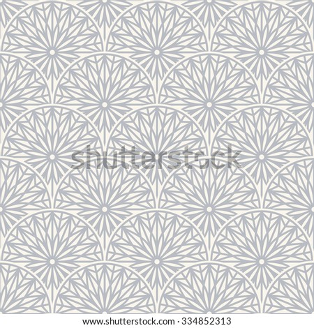 Grey elegant ornamental seamless pattern. Vector illustration - stock vector