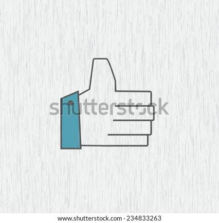 Grey hand icon - stock vector