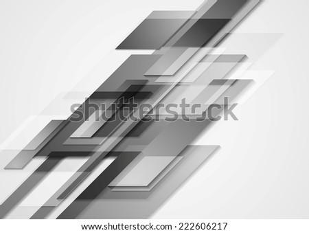 Grey hi-tech motion design. Vector background - stock vector