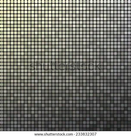 Grey pixel mosaic design background  - stock vector