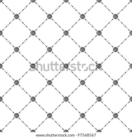 Grey seamless pattern with earth symbol, 10eps. - stock vector