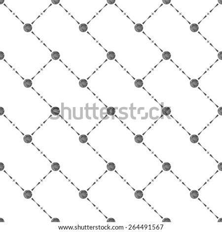 Grey seamless pattern with earth symbol on white, 10eps. - stock vector