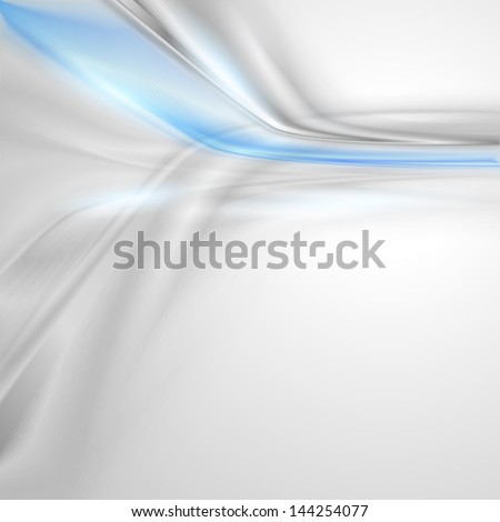 Grey soft abstract background with blue element - stock vector