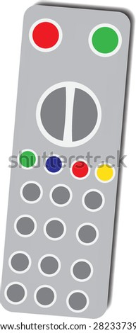 Grey TV remote control vector pattern - stock vector