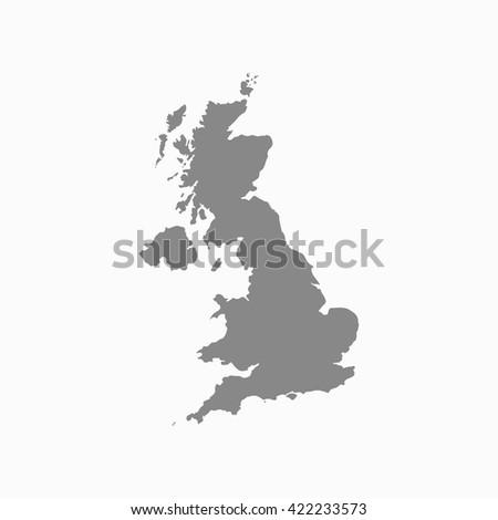 Grey United Kingdom map. United Kingdom map blank. United Kingdom map vector. United Kingdom map flat. United Kingdom map clean. United Kingdom map art. United Kingdom map jpg. United Kingdom map eps. - stock vector