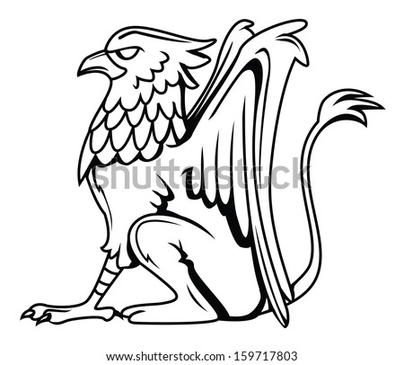 Griffin tattoo stock photos images pictures shutterstock for Dibujos de grifos