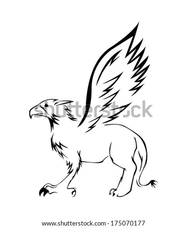 griffin Symbol Vector Illustration - stock vector