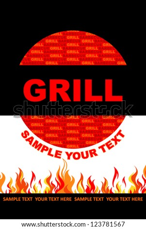 Grill menu - stock vector