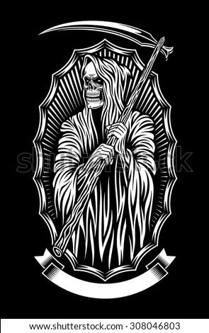 Grim Reaper Vector Art - stock vector