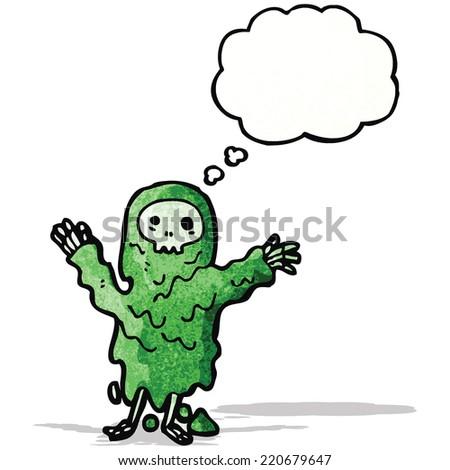 gross ghoul cartoon - stock vector