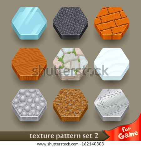 ground texture patterns for game-set 2 - stock vector