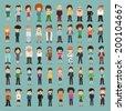 Group cartoon people , eps10 vector format - stock vector