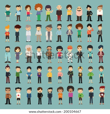 Group cartoon people , eps10 vector format - stock vector
