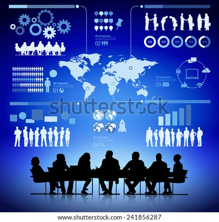 Group of Business Planning Analyst - stock vector