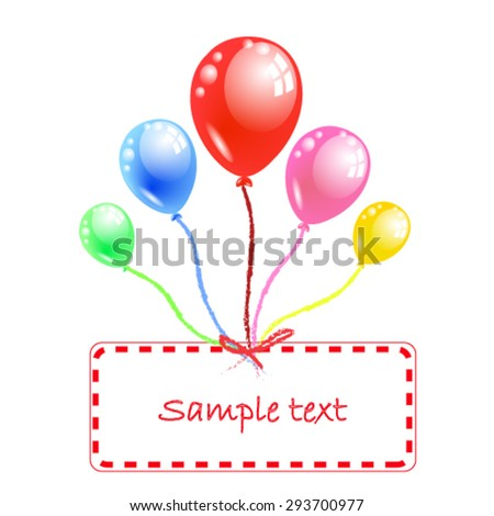 group of colorful balloons vector illustrator - stock vector