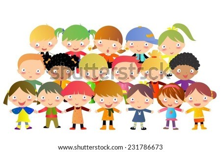 Group of kids - stock vector