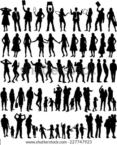Group of people - large collection  - stock vector