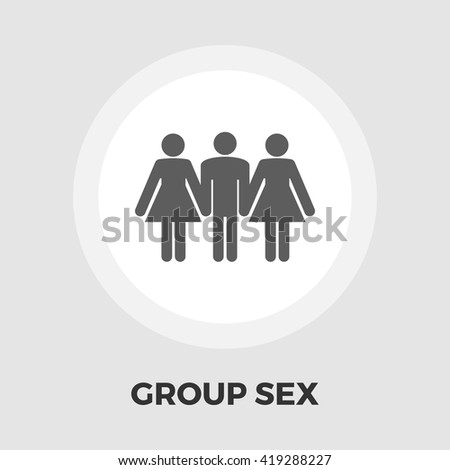 Group sex icon vector. Flat icon isolated on the white background. Editable EPS file. Vector illustration. - stock vector