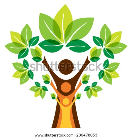 Growing family tree concept - stock vector