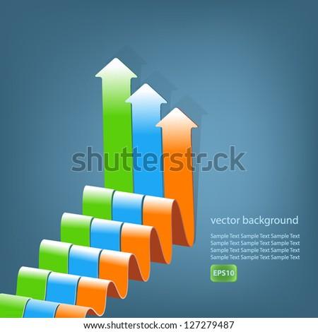 Growing graphs - stock vector