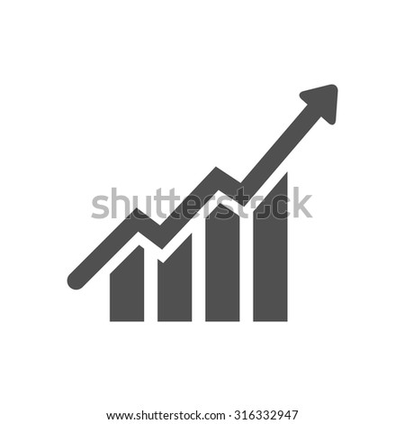 growth chart   icon - stock vector
