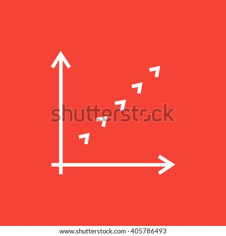 Growth graph line icon. - stock vector