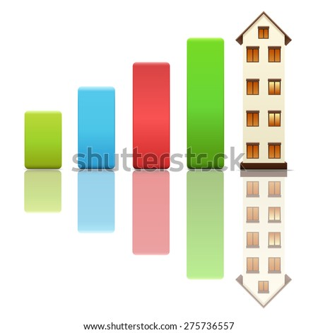 Growth in real estate - stock vector