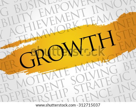 Growth word cloud, business concept - stock vector