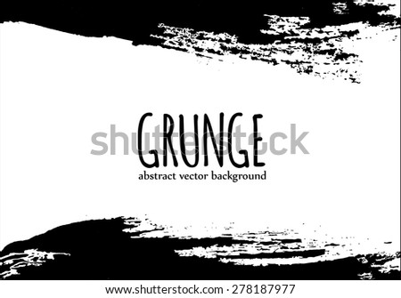 Grunge abstract banner for design background, vector - stock vector