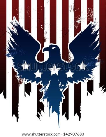Grunge American Eagle - stock vector