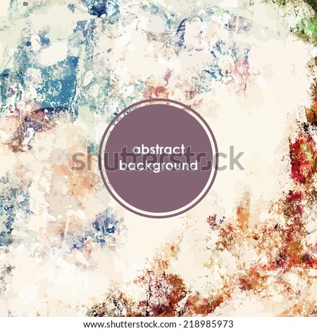 Grunge background. Old texture. Vintage wallpaper. - stock vector