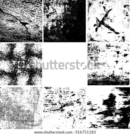 Grunge Background Texture . Vector Distress Background . Cracked Texture . Distress Texture . Grunge Texture . Dirt Texture . Overlay Texture . Wall Background.  - stock vector