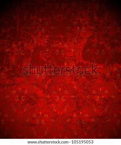 Grunge background vintage style design. Abstract dark wallpaper grungy texture - stock vector
