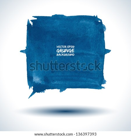 Grunge background. Watercolor background. Retro background. Colorful background. Business background. Abstract background. Modern background. Vector background. Blue background. Vector shape - stock vector