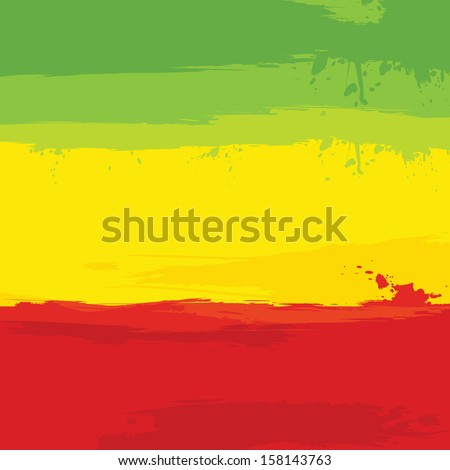 grunge background with flag of Ethiopia. Vector illustration. - stock vector
