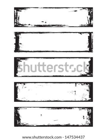 Grunge Banner Vector - stock vector