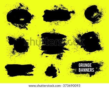 Grunge banners set. Vector grunge elements  - stock vector