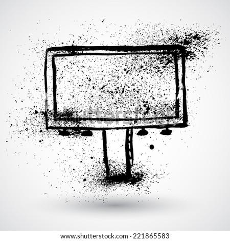 Grunge billboard - stock vector