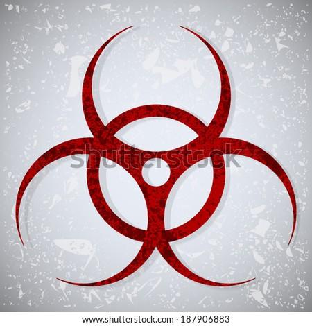 Grunge biohazard symbol. Vector illustration. - stock vector