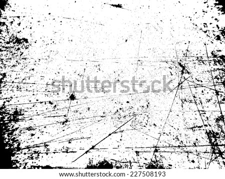 Grunge Black and White Texture . Distress Texture . Scratch Texture . Dirty Texture . Wall Background . Rubber Stamp Texture . Rough Texture . Rust Texture . Damaged Wall Overlay Vector Texture . - stock vector