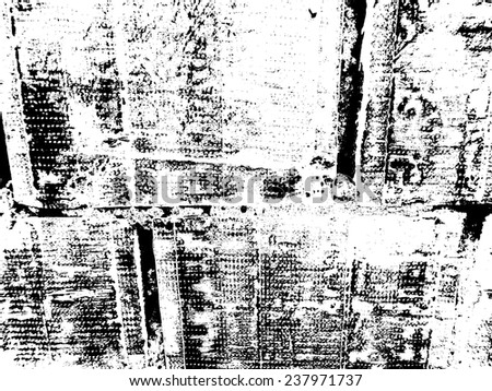 Grunge Black and White Texture . Distress Texture . Scratch Texture . Dirty Texture . Wall Background . Stamp Texture . Rough Texture . Rust Texture . Destroy Wall Overlay Vector Texture . - stock vector