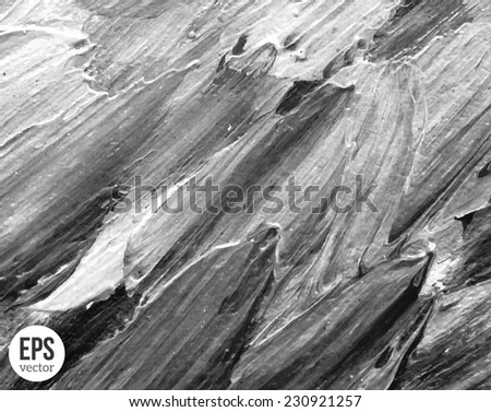 Grunge black and white texture. Vector illustration. Painted background. Abstract backdrop. Concrete wall texture. - stock vector