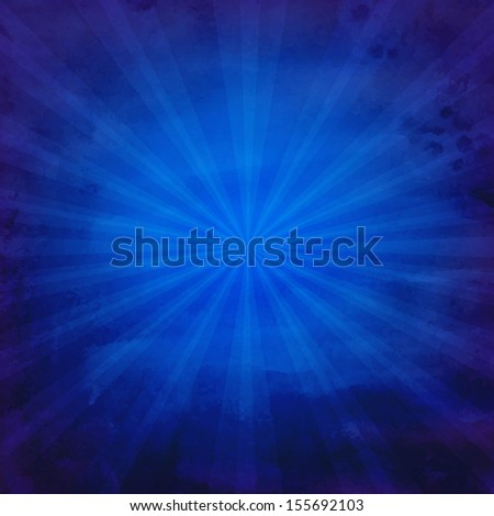 Grunge Blue Texture With Sunburst With Gradient Mesh, Vector Illustration - stock vector