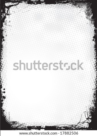 Grunge border - vector - stock vector